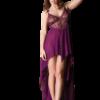 Chiffon babydoll in purple color