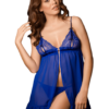 Chiffon babydoll in electric blue color