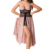 Chiffon babydoll in rose color