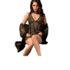 lace chemise set in olive green color