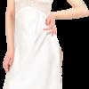 Satin nightgown set in cream color